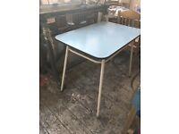 Vintage blue desk/table