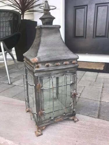 Fantastic Large Vintage Lantern with Great Patina