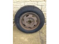 Ford Fiesta Spare Wheel with 165/70/13 tyre with 6.5mm tread