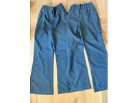 Girls school trousers age 9 £3 for both.