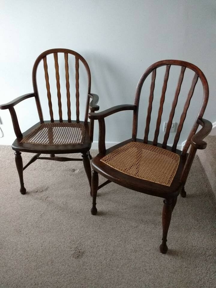 Pair of Antique Arts and Crafts Country Chairs.