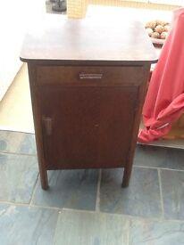 Vintage wooden bedside cabinet