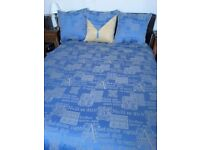 King size bedspread with 3 large cushions