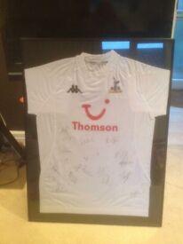 Signed Tottenham 2005 Home Shirt In Frame