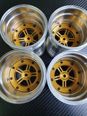 Tamiya Clod Buster Bull Head 4WD Alloy Wheels set Tecnacraft repro N type