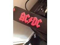 ACDC RED LOGO Guitar strap