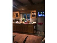 solid pine used kitchen units