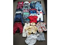 Bundle of clothes for a little boy 9-12 months ( 30 pieces )