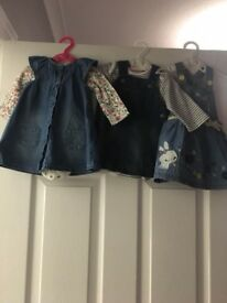 0-3 denim dresses