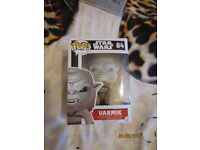 STAR WARS POP VINYL NO 84 VARMIK BRAND NEW IN BOX unwanted gift