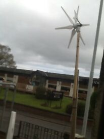 350w wind turbine generator with mast