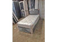 Single Size Divan Bed & Comfy Mattress