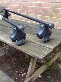 Thule square section roof bars, mountings and feet