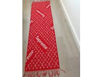 BNWT Red and White LV supreme scarf