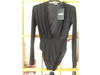 Missguided black bodysuit size 6