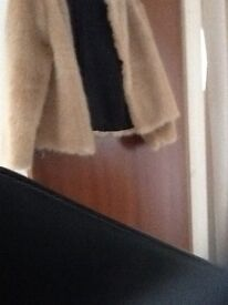 Fake fur coat champagne colour size 20