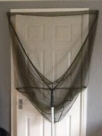 "42"" pike/Carp landing net and telescopic handle and fox stink bag"