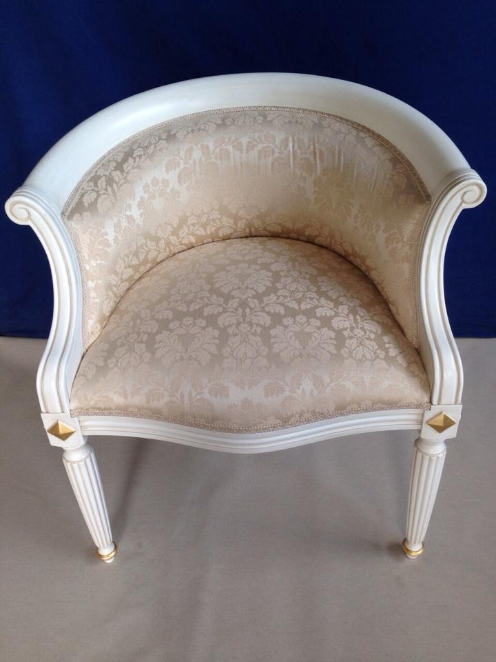 Poltrona sedia camera da letto classica bianca vari colori - Colori pareti camera da letto classica ...