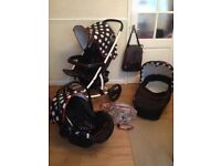 * Hauck Malibu Travel System * Black, white and red....