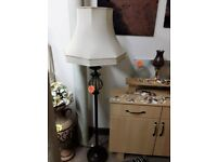 Lovely black standard lamp Copley Mill LOW COST MOVES 2nd Hand Furniture STALYBRIDGE SK15 3DN