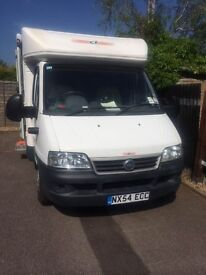 Fiat Motorhome with wind out awning, Bike Rack, MOT Until March2018