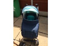 Pushchair with car seat
