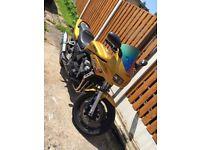 Yamaha Fazer 600cc FZS600 LOWERED Gold