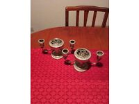 Silver Plated Candlestick Holders