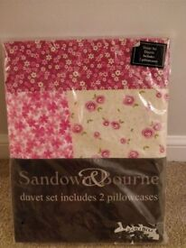 BNIP double bed duvet cover with 2 pillowcases, collect Stonehaven