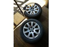 """2x 15"""" alloys with Goodyear tyres"""