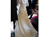 Mori Lee wedding dress with bolero and shawl