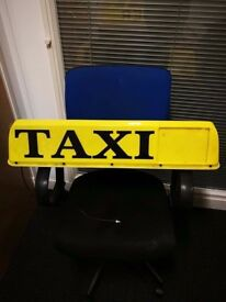 TAXI ROOF SIGN - working and in good condition - 7 Available