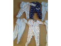 8 no6-9 month baby boys sleep suits