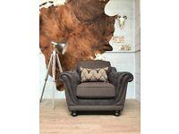 SALE Cuddle Armchair Fabric + Matching Cushion