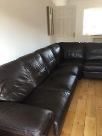 Excellent condition DFS corner sofa and foot stool