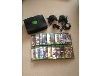 Original Xbox and selection of games