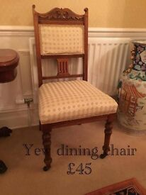 One Yew Chair