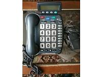 Large Button Telephone with Audio Booster