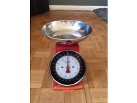 Retro - Red Weighing Scales, full working order