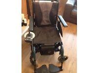 Electric/manual folding wheelchair