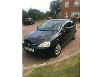 Vauxhall Corsa Hatchback 1200 Manual 2002 in Black