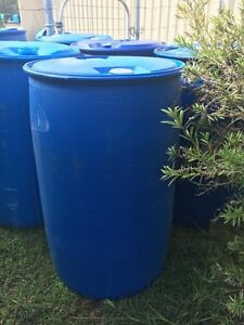200ltr blue plastic drums Karrabin Ipswich City Preview