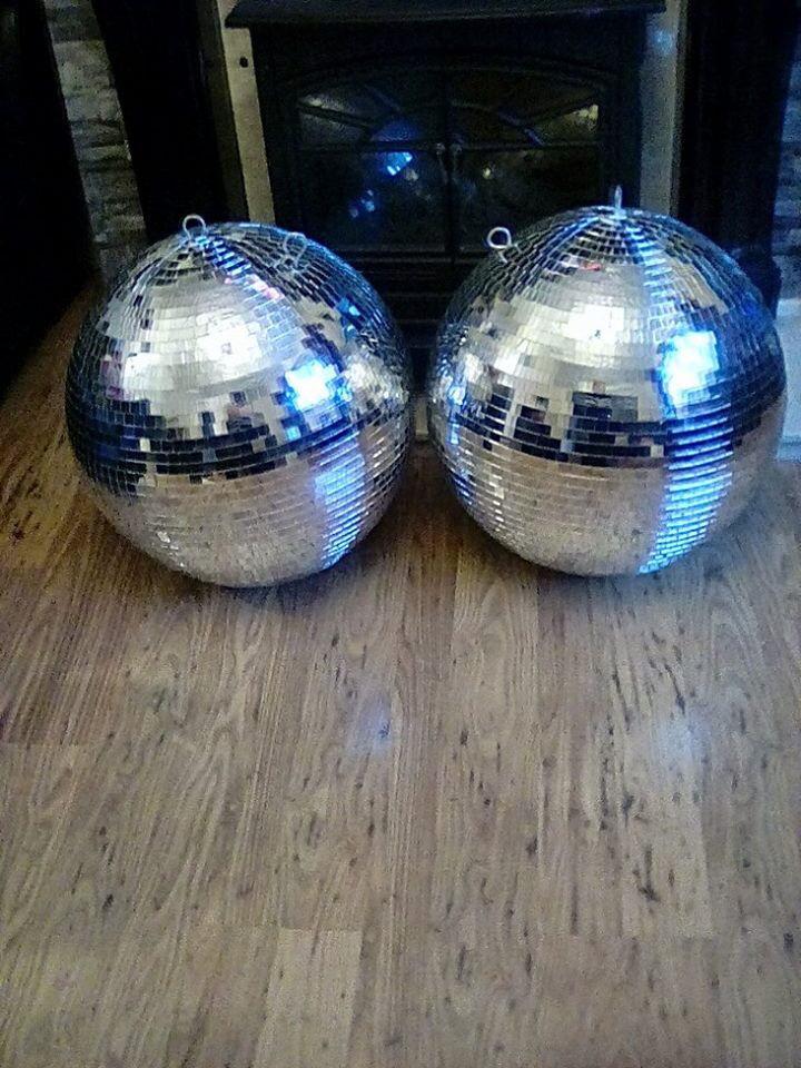 Huge disco mirror balls X2 150cm each- Nightclub, Bar, Festivals, Weddings