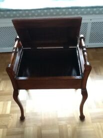 upholstered piano stool excellent condition
