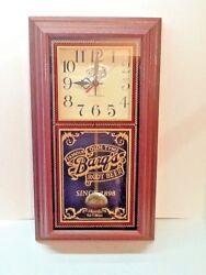 Vintage BARQ'S ROOT BEER Advertising Quartz Pendulum Clock