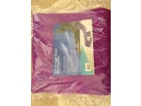Sun Lounger Towel with Pockets (Purple)