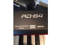 Roland RD64 stage piano. New condition.