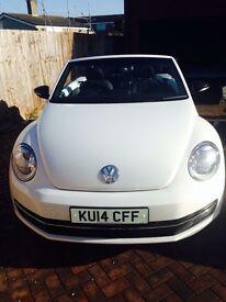 VW Convertible Beetle Sport White 2014