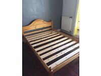 WOODEN DOUBLE BED- £50.00