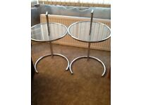 2 Chrome Lamp Tables